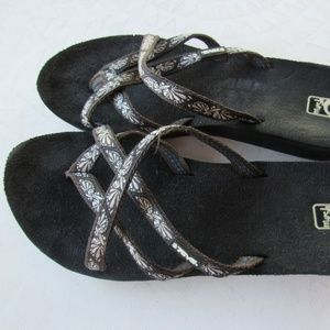 Black and Gray TEVA Strappy Sandals